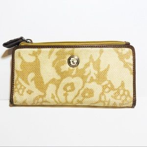 Spartina Daufuskie Island Linen Leather Wallet